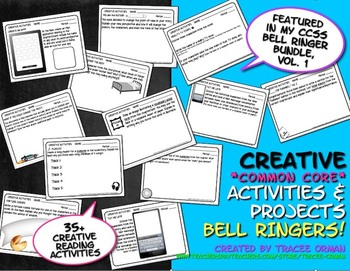 Creative Activities for ANY Book Common Core Bell Ringers Exit Slips