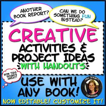Creative Activities for ANY Novel or Short Story with Handouts Distance Learning