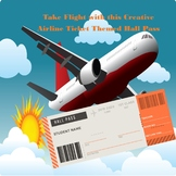 Creative Airline Boarding Ticket Hall Pass