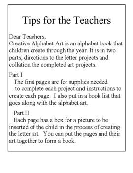 Creative Alphabet Art