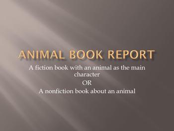 Creative Animal Book Report