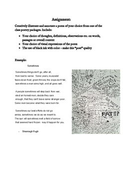 Creative Annotated Poem Assignment - assignment and example