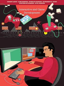 Creative Art Careers Classroom Poster - Interactive and Game Development