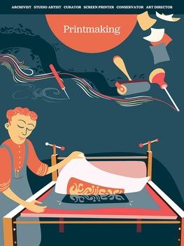 Creative Art Careers Classroom Poster - Printmaking