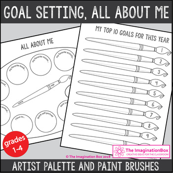 Back To School Artist Posters, Garland and All About Me art activity pack