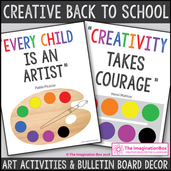 Goal Setting and First Week Back Art and Writing Activities