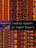 Creative Autumn Papers {Creative Clips Digital Clipart}