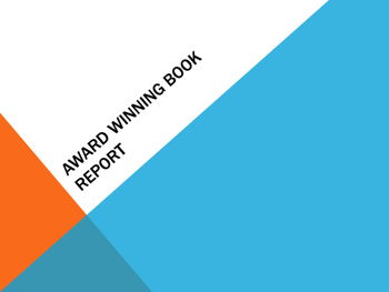 Creative Award Winning Book Report