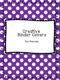 Creative Binder Covers