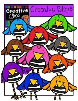 Creative Birds {Creative Clips Digital Clipart}