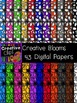 Creative Bloom Doodle Papers {Creative Clips Digital Clipart}