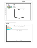 Creative Book Report- Book Report Recipe Cards