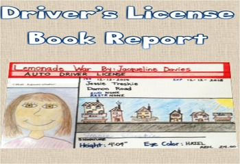 Creative Book Report – Character Driver's License