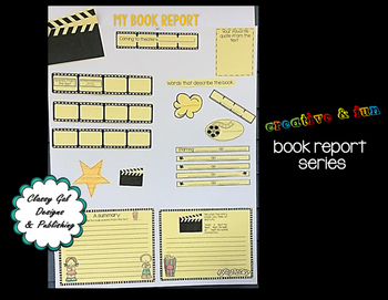 Creative Book Report (Fiction) * Book Project  * Craftivity * Poster