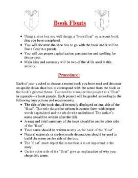 Creative Book Report Ideas- Elementary
