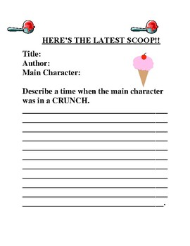 Creative Book Report Ideas- Elementary- Part 2