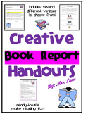Creative Book Report Handouts