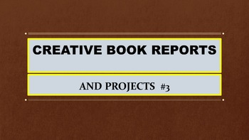 Creative Book Report Projects #3