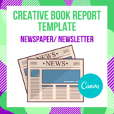 Creative Book Report Template with Digital Template