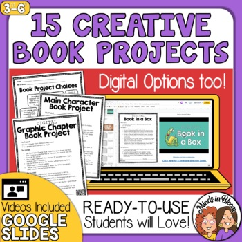 Book Report Projects for Any Book Distance Learning Independent Work
