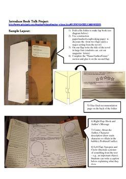 Creative Book Talk Project (Lapbook)