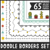 Doodle Borders and Frames Set