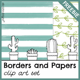 Assorted Borders and Digital Papers Set [FREEBIE]