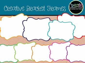 Creative Bracket Frames - Digital Clipart