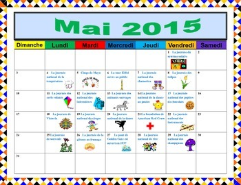 Creative Calenders en Francais!: Mai & Juin