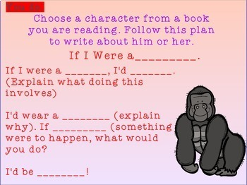 Writing Process : Creative Character Writing for Promethean Board Use