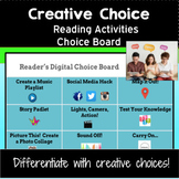 Reading Activities and Independent Reading Choice Board: For ANY Story or Book