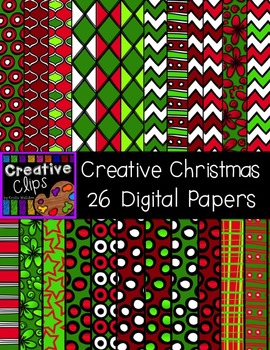 Creative Christmas Clipart Papers {Creative Clips Clipart}