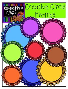 Creative Circle Frames {Creative Clips Digital Clipart}