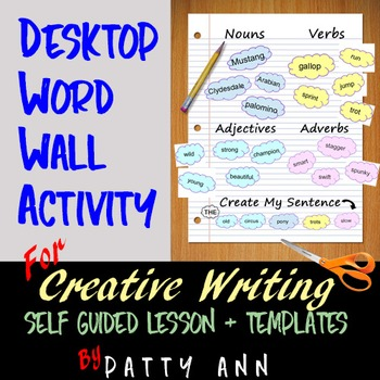 Communication: DESKTOP WORD WALL Creative Writing ACTIVITY>Self-Guided Templates