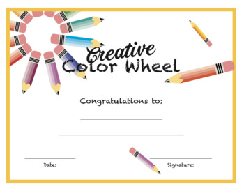 Creative Color Wheel Project