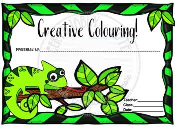 Creative Coloring Chameleon