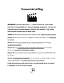 Creative Commercial Acting Assignment