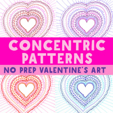 Art Project: Heart Concentric Pattern for Valentine's Day