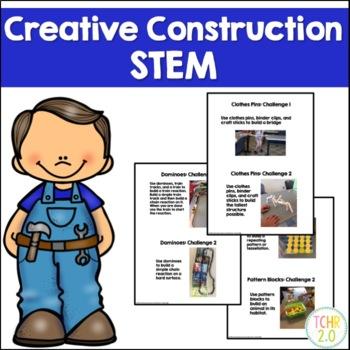 Creative Construction STEM STEAM 5 Challenges 5 Centers