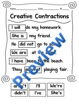 Creative Contractions