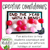 Creative Countdowns! End the Year with a Bang!
