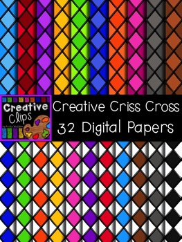 Creative Criss Cross Papers {Creative Clips Digital Clipart}