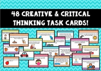 Creative & Critical Thinking Task Cards! AND Print & Go worksheets!