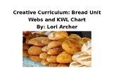 Creative Curriculam Bread Study: KWL Chart and Weekly Webs