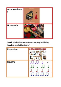 Creative Curriculam Music Study: Vocabulary Words