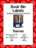 Creative Preschool Curriculum Book Bin Labels