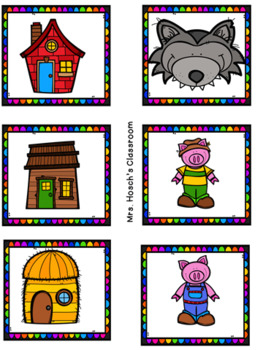 Creative Curriculum: Building Study ( Three Little Pigs Story Pack) Freebie