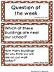 Creative Curriculum Building Study Word Cards and Questions