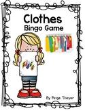 Creative Curriculum Clothes Bingo