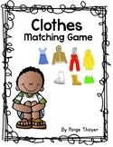 Creative Curriculum Clothes Matching Game